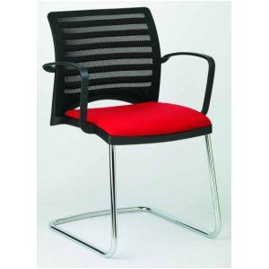 Bezoekersstoel linea 3D slede + armleg.